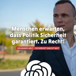 Johannes Arlt setzt sich dafür ein, dass man in Deutschland auch in Zukunft sicher leben kann.