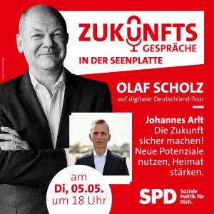 Diskussionsveranstaltung mit Olaf Scholz und Johannes Arlt