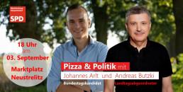 Banner Pizza und Politik Butzki und Arlt