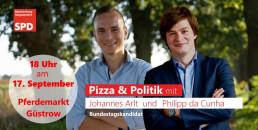WIr treffen uns zu Pizza und Politik am Pferdemarkt